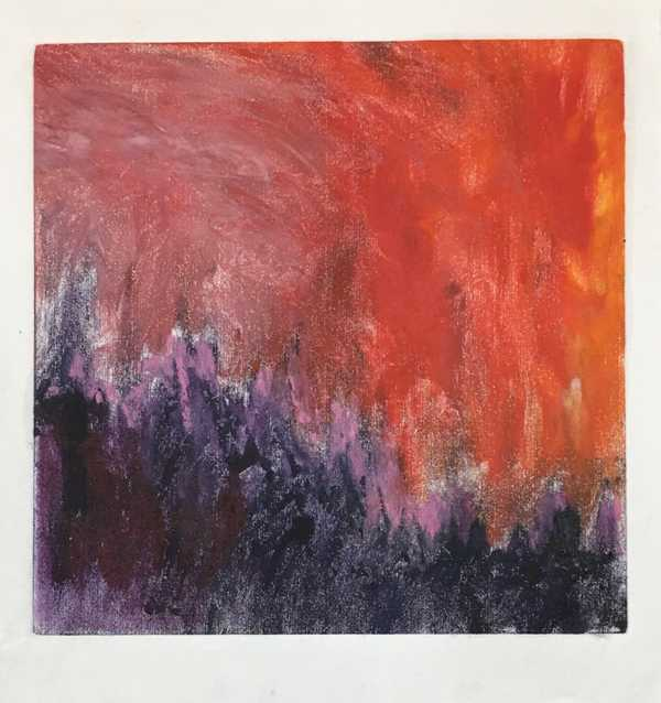 Untitled (purple, red)